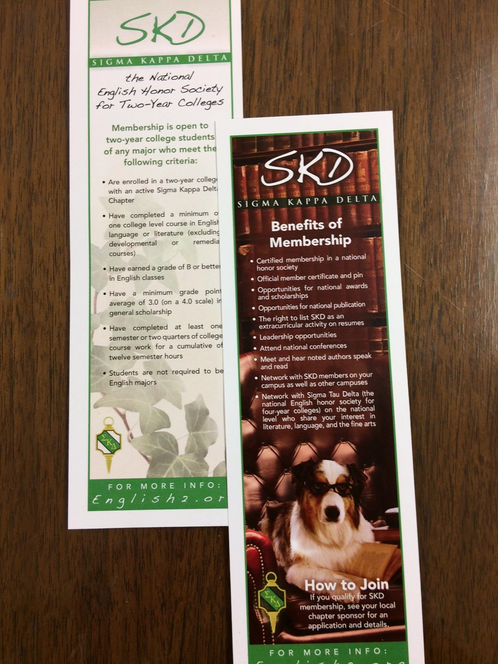 SKD Informational Book Mark