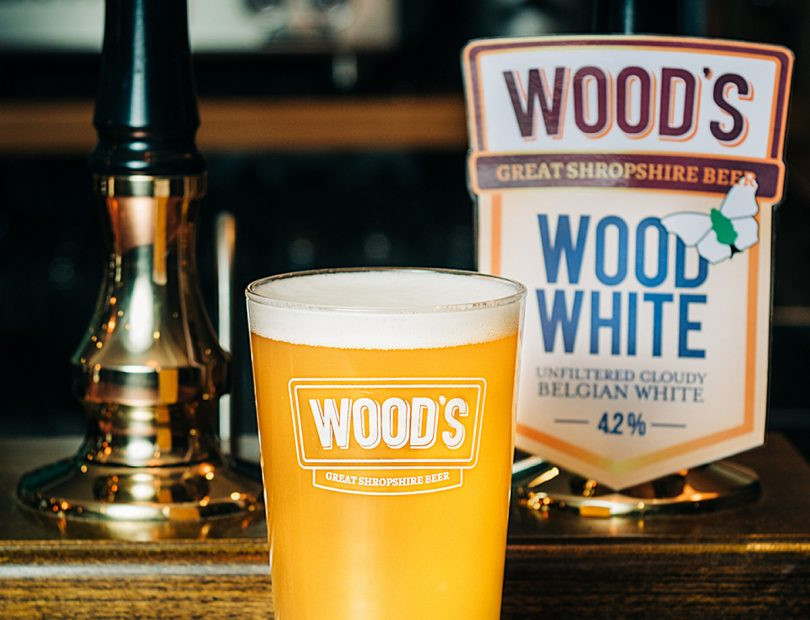 A lovely pint of Wood's White.