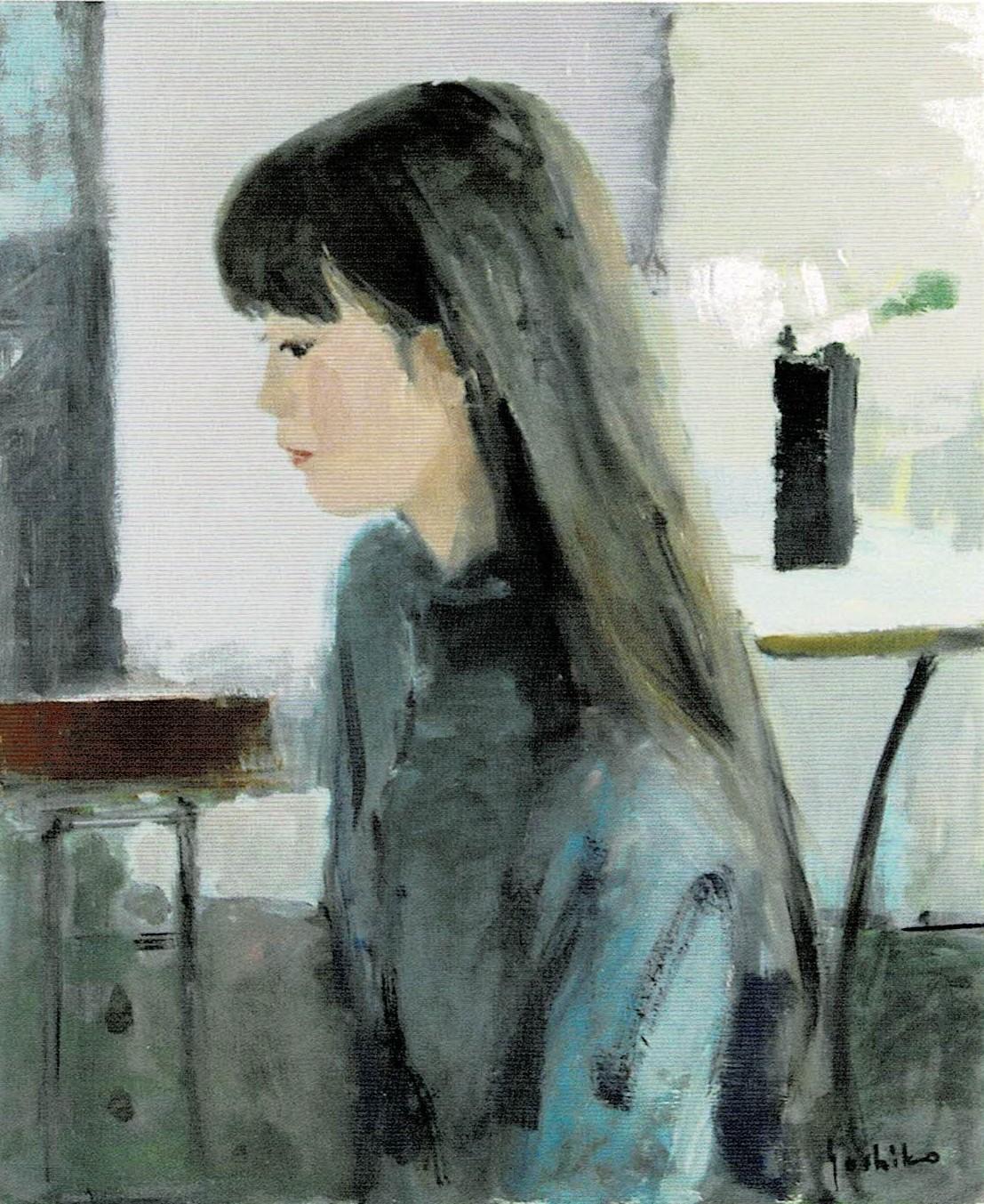 山本佳子「アトリエの娘」8号