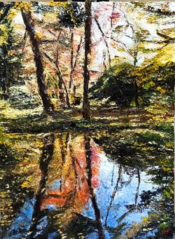 柿崎覚「水辺の秋 」