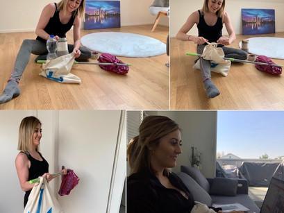 Teresa zwischen Home Office und Videodreh
