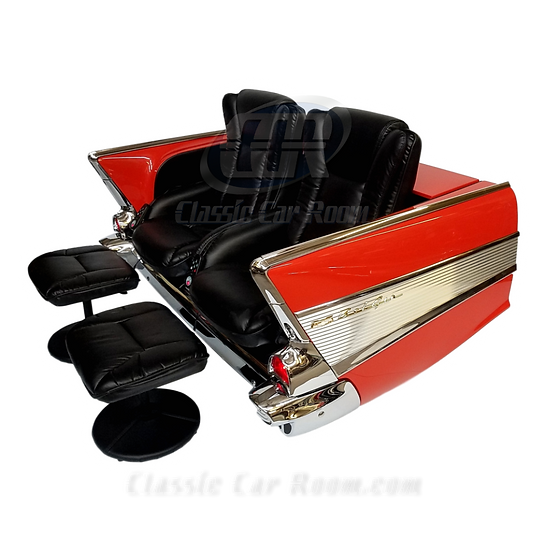 Car Furniture | 1957 Chevy Bel Air Recliner Car Couch | Ultimate Man Cave