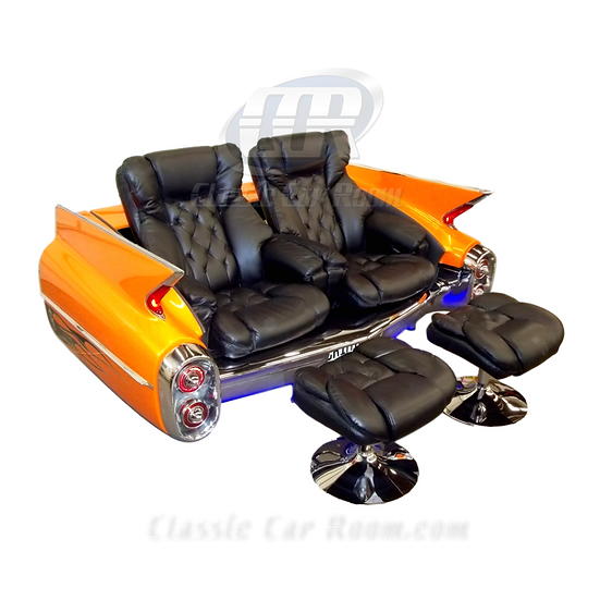 Car Furniture | 1960 Cadillac Recliner Car Couch | Ultimate Man Cave