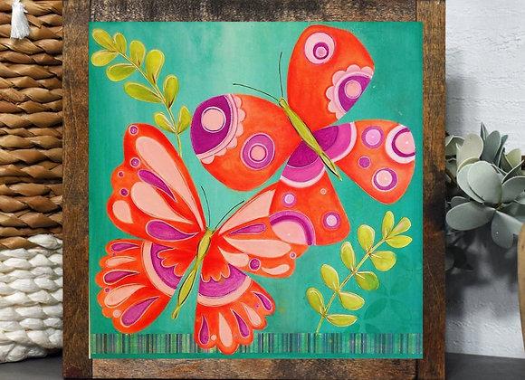 Butterflies friends 8x8 acrylic