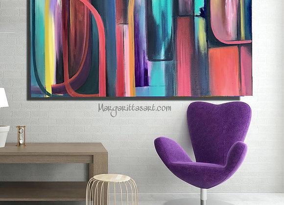 "PURPPLE RAIN 24 x 48"" ORIGINAL ART"