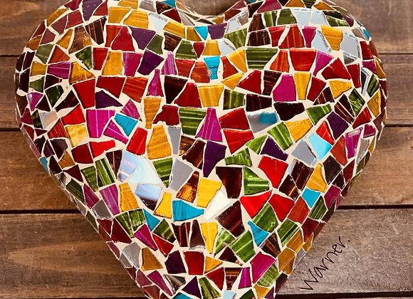 Artisanal Mosaic Heart