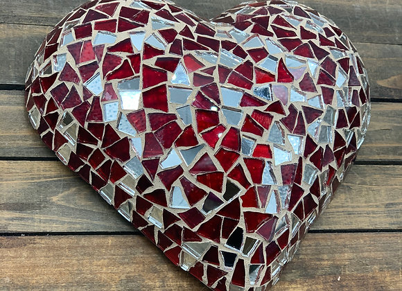 Mosaic Heart Wall  Art