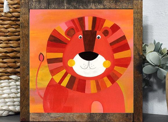 "Lion  Acrylic 8x8"""