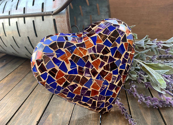Navy Blue heart mosaic