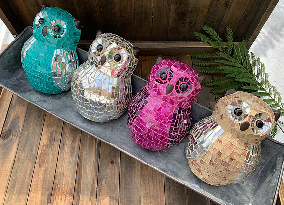 Artisanal Owl glass mosaic