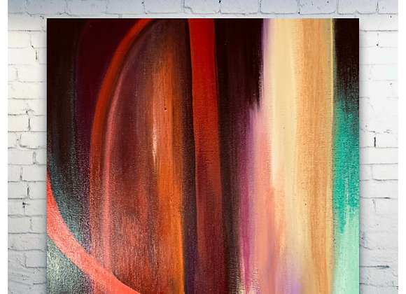 "Drama King / Original Painting / 24 x 24 x1.5"""