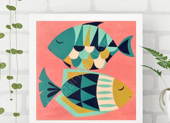 Fish Love Wall Art