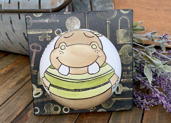 I love hippos clay art