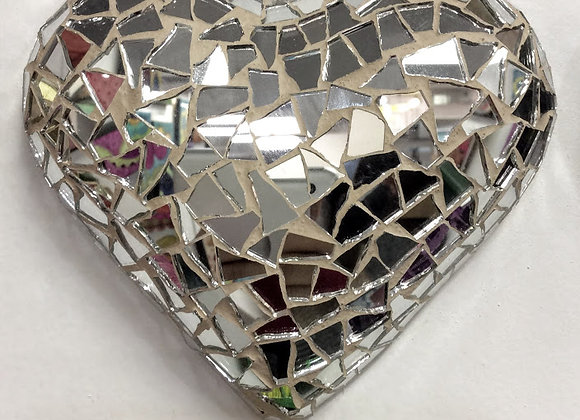 Looking Glass Mosaic Heart