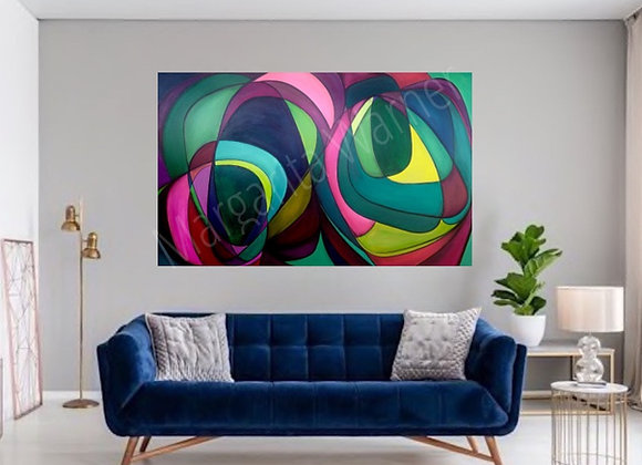 "Galaxy Love / Original Painting /48X30X1.5"""