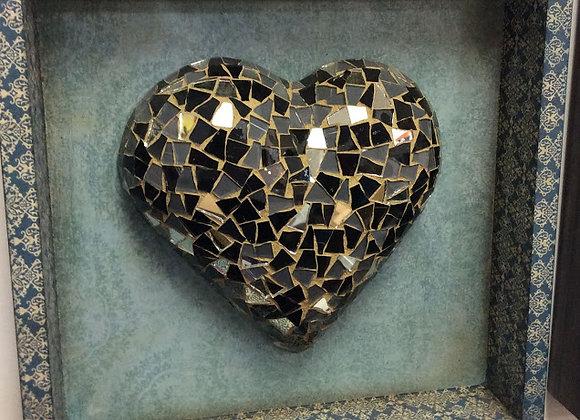 Black & Silver framed Heart