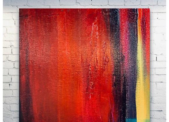 Drama Queen / Original Painting / 24 x 24 x 1.5