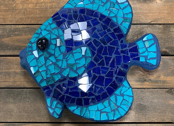Mosaic Fish Art / Wall Ornament / 6.5 x 6.5 x 1.5""