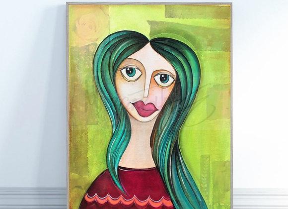 "Empowered Woman / Original Painting / 16"" X 20"""