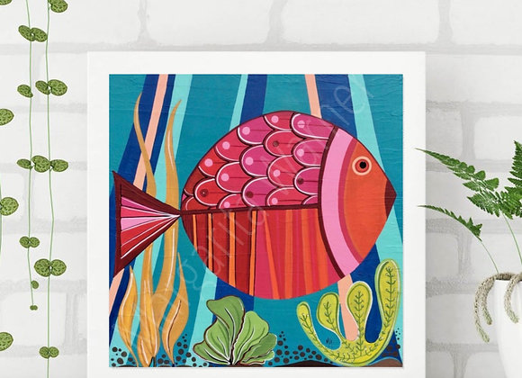 Happy Fish Painting