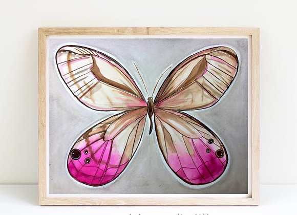 """Butterfly in pink 8x10"""""""