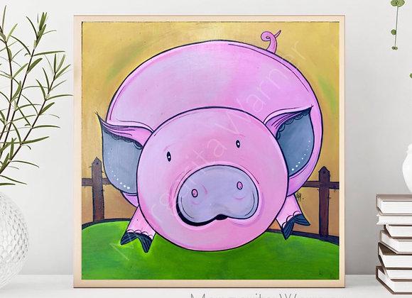 Pig Nursery Art