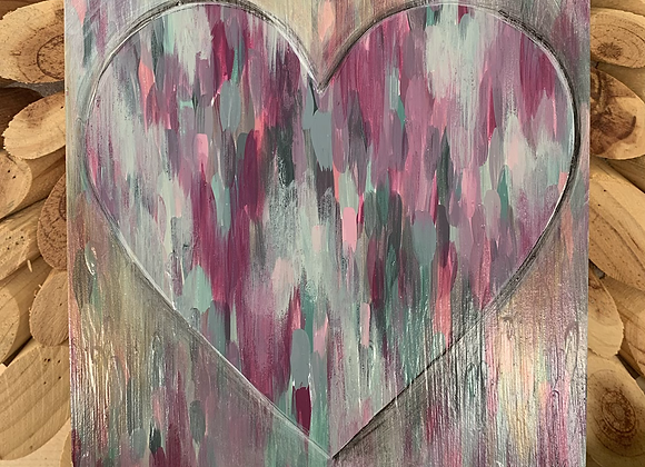 "I love you heart 6x6"" original painting"