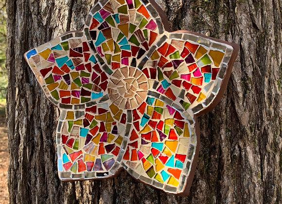 Artisanal Mosaic Glass / Multicolor Flower