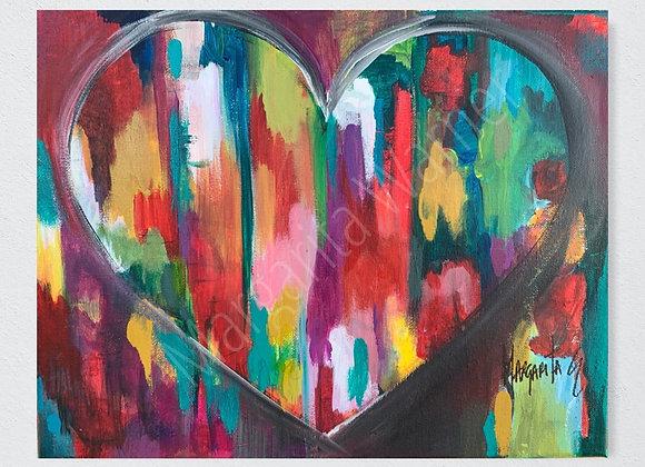 Abstract Love art ,Original painting