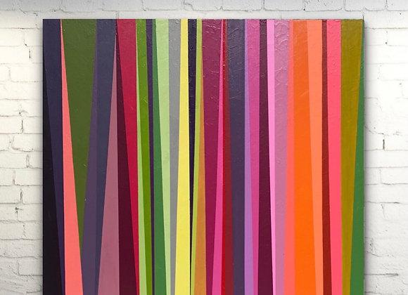 """Capitol Colors / Sripes Art /Original Painting / 36x36x1.5"""""""
