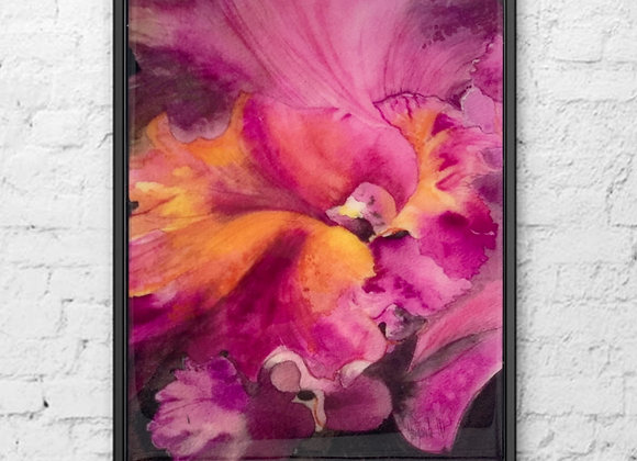 "Orchid Original Watercolor 16x20"""