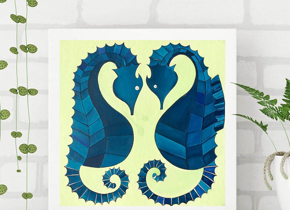"Sea horse fine art print 8x8"""