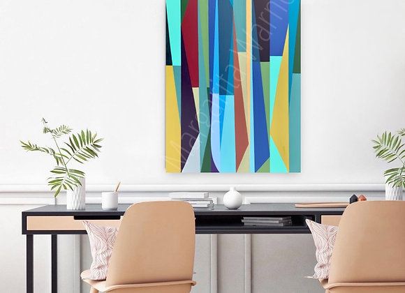 "Geometrical Style /Stripes Art / 36x24"" / Original Paintin"