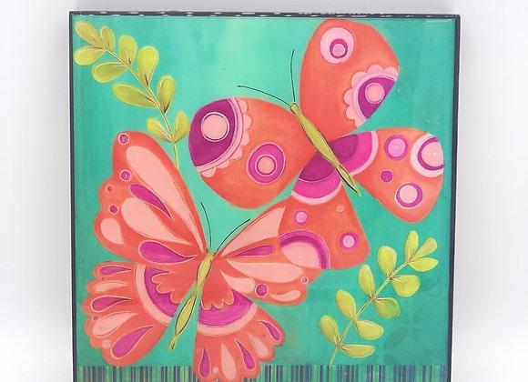 "Butterfly supple art 8x8"""