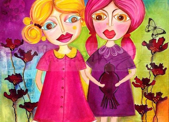 """Soul Sisters / Original Painting /16""""x20"""""""