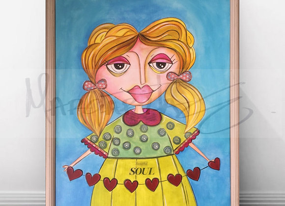 "Beautiful Soul Girl / Original Painting / 16""x 20"""