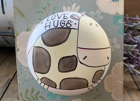 Love hugs happy cow clay art