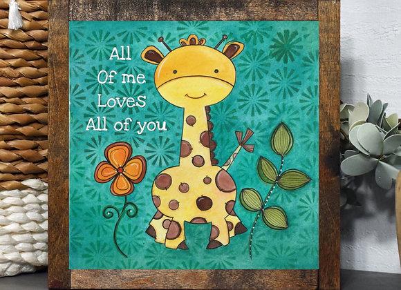 """Giraffe Painting 8x8"""""""