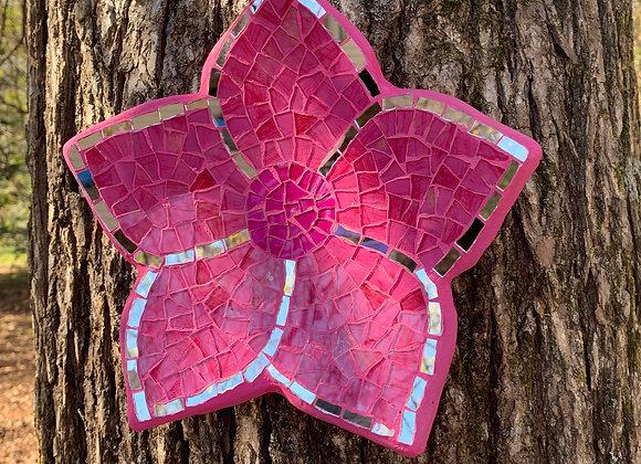 Mosaic art Pink flower