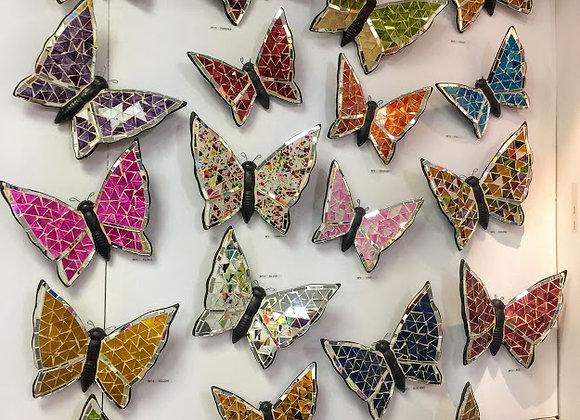 Butterfly art glass mosaic