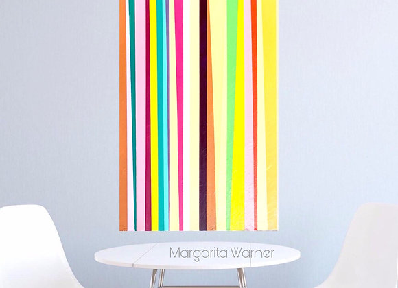 "Spring Colors / Stripes Original Painting / 24x30x1.5"""