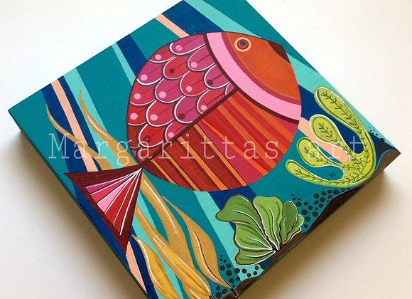 "Fish With Sunshine 12x12"""