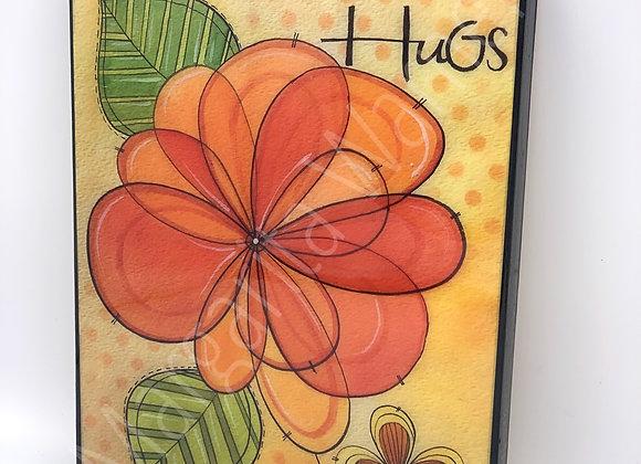 Hugs Watercolor Art