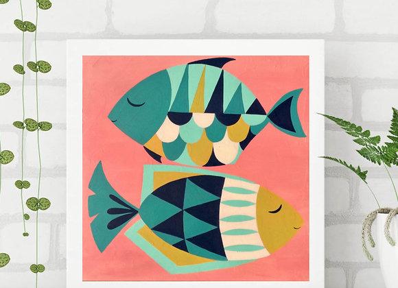 "Fish Acrylic fine art print 8x8"""