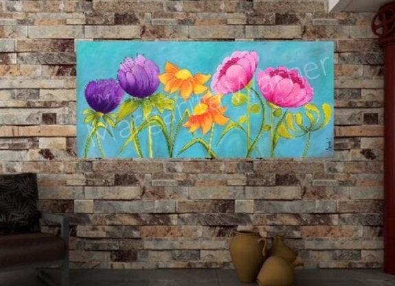 Summer Blooming Original Painting
