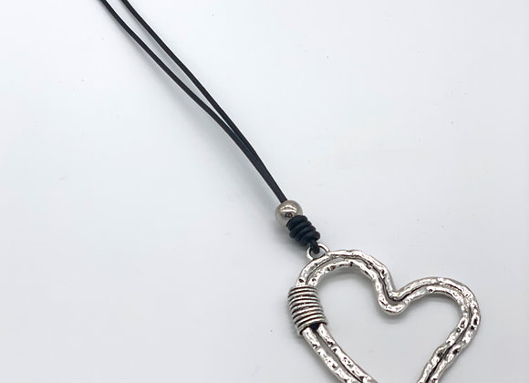 SILVER PLATED LONG NECKLACE YOU AND ME