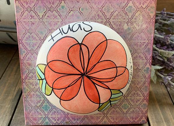 Hugs Flower clay art