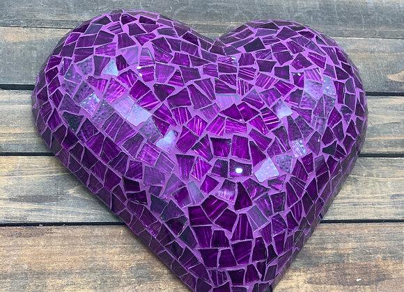 Purpple Art Mosaic Heart