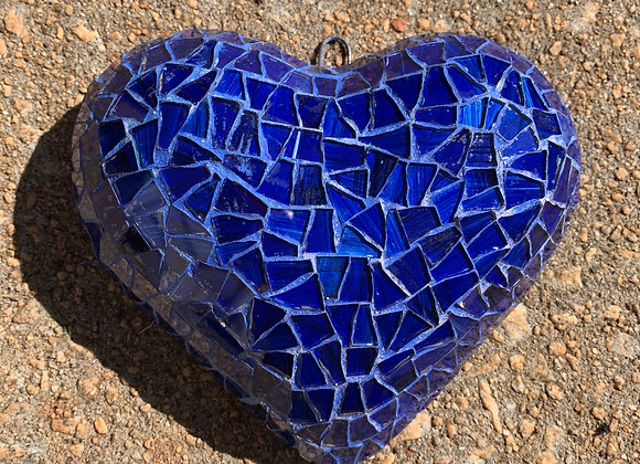 Navy Blue Mosaic Heart
