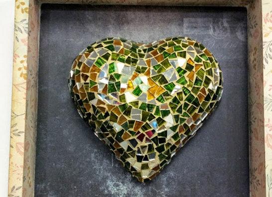 Framed Wall Mosaic Heart